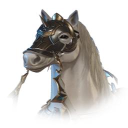 貴族の白馬