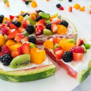 Watermelon Pizza Dessert Recipe