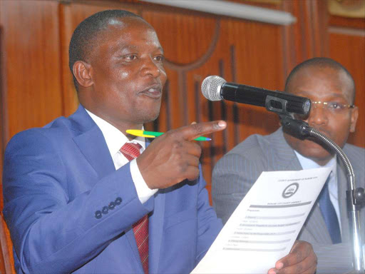Minority leader Michael Ogada, who urged speaker Benson Mutura to be firm and not entertain 'petty' wars.