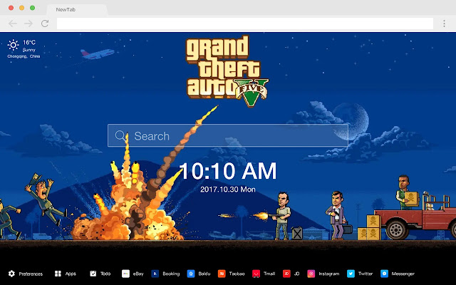 Grand Theft Auto New Tab HD Games Themes
