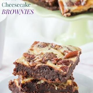 Flourless Turtle Cheesecake Brownies