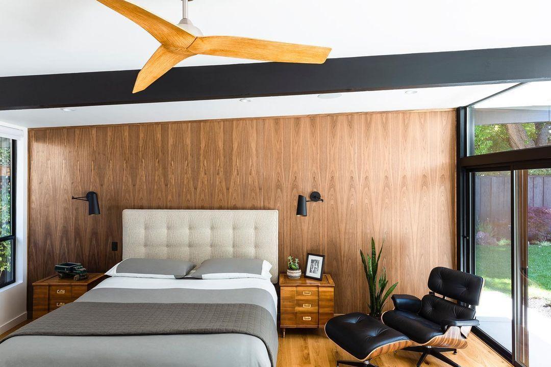 5.Wooden Panel Mid Century Modern Bedroom