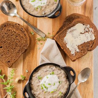 Creamy Wild Rice & Mushroom Soup
