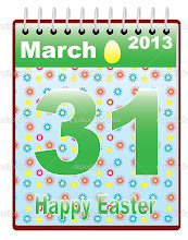 Photo: calendar with catholic Easter Sunday date vector illustration