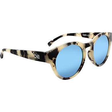 Optic Nerve ONE Rizzo Polarized Sunglasses: Matte Beige Marble with Polarized Smoke Ice Blue Mirror Lens