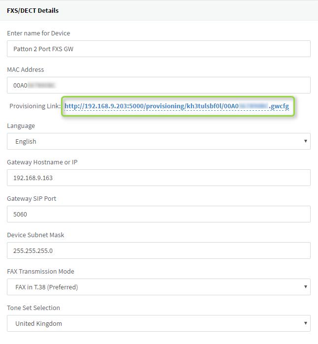Configuring Patton SmartNode - Analog 2 and 4 Port FXS VoIP Gateways ...