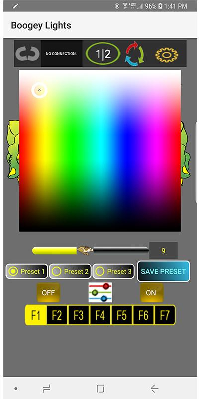 Скриншот Boogey Lights® Bluetooth LED Controller APP