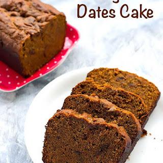 Eggless Dates Cake Recipe - Vegan Dates Cake