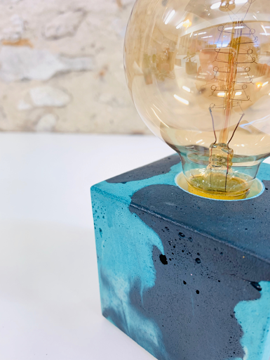 lampe béton à poser design