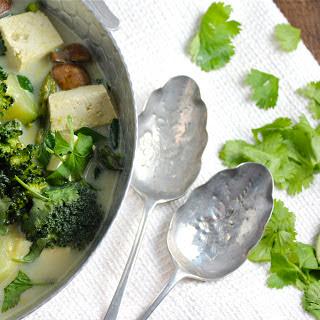 Thai Green Coconut Curry (Vegan, GF)