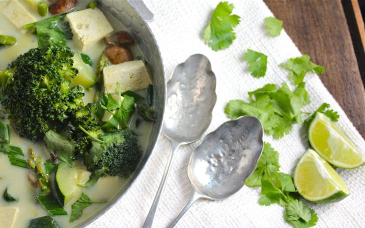 Thai Green Coconut Curry (Vegan, GF) Recipe
