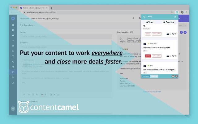 Content Camel Sales Enablement