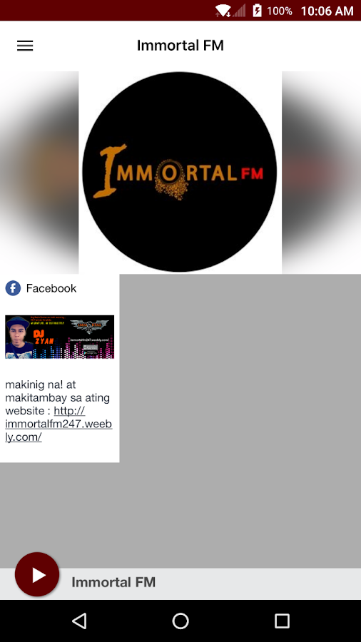 Immortal FM- screenshot