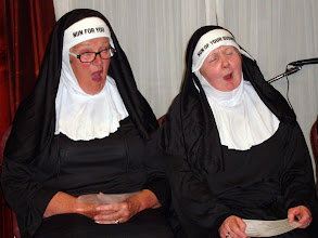 Photo: Sr. NUN FOR YOU Ann Coe and Sr. NUN OF YOUR BUSINESS Móire Stenson both in ecstasy by the look of it or perhaps they're on it.
