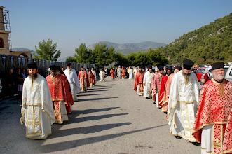 Photo: Литийно шествие с мощите на светиите след края на литургията.