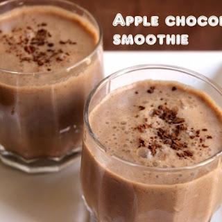 Apple Chocolate Smoothie.