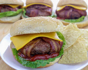 Bacon Wrapped Turkey Burgers