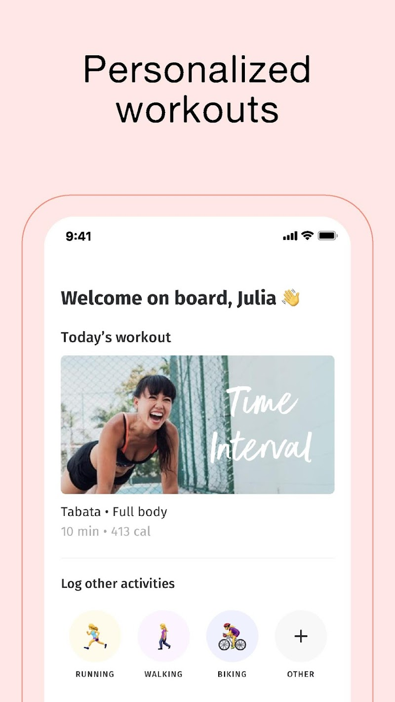 8fit Workouts & Meal Planner Screenshot 1