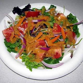 Thai Salad with Spicy Peanut Dressing.