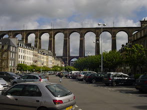 Photo: We now move inland to Morlaix, and its famous viaduct.