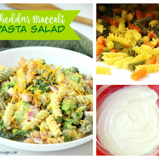 Cheddar Broccoli Pasta Salad.