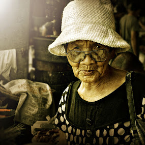 by Rodel Cabantac - People Portraits of Women ( senior citizen )