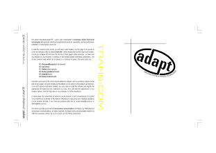 Photo: Master Artwork: CDRCOM35, Adapted, released Nov 1999. Produced for ADAPT (Analogue Digital And Physical Technologies) conference. Design by Dennis Remmer.