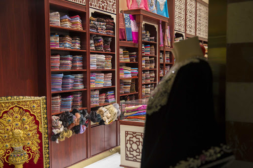 Enjoy the colorful shops of Dubai.