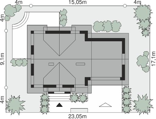 Dom przy Cyprysowej 36 - Sytuacja