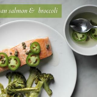 Sheet Pan Salmon and Broccoli with Chili-Lime Vinaigrette