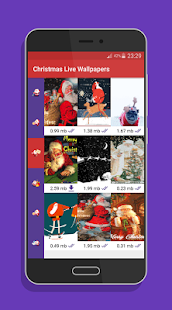 Santa Live Wallpapers - Christmas live wallpapers Screenshot