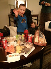 Photo: Dinners in our room.  This is what you do when kids won't eat.
