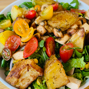 Warm Chicken & Potato Chopped Salad