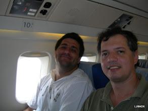 Photo: Lucas LU1FAM y Diego - LU8ADX
