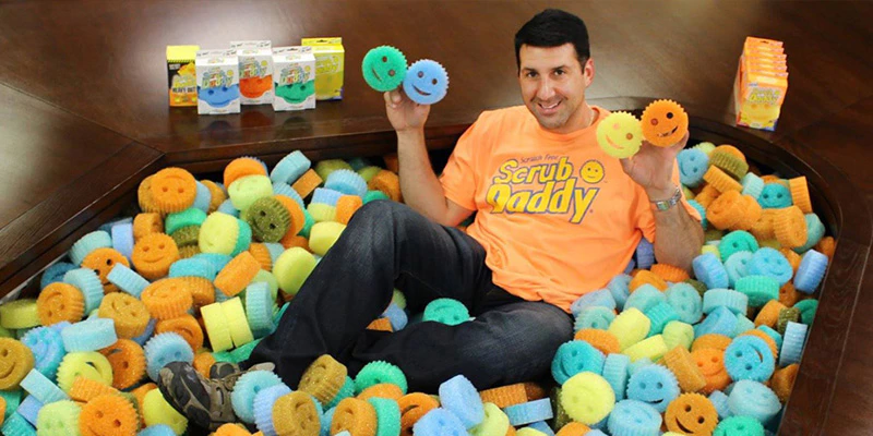 Scrub daddy showing a wide variety of product lines