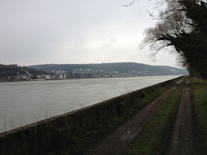 Photo: Caudebec-en-Caux vue du chemin de halage