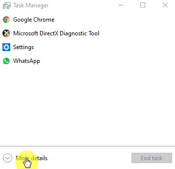 More details pada Task bar