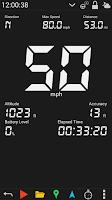 Screenshot of GPS HUD Speedometer Free