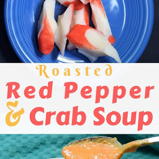 Homemade Roasted Red Pepper Crab Soup.