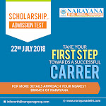 Narayana DelhI Scholarship and Admission Test on 22nd July