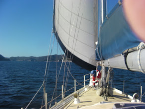 Photo: Sailing at last, but not for long