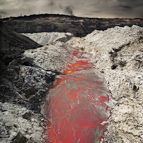 Inside the Planet by Goran Popović - Products & Objects Industrial Objects ( planet land volcano magma future ecology )