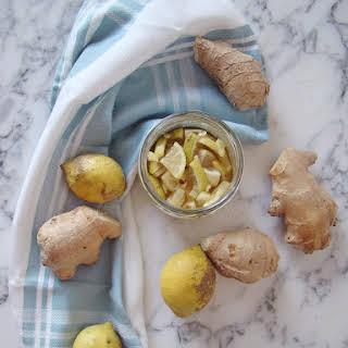 Ginger, Lemon and Honey Cold/Flu Remedy.