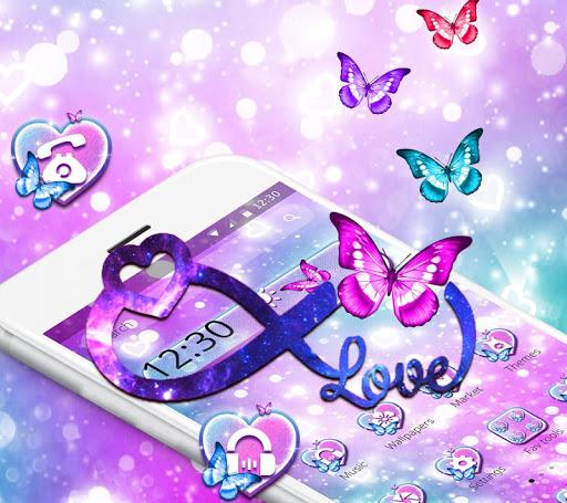 Dream Purple Infinity Love Theme App Report on Mobile Action