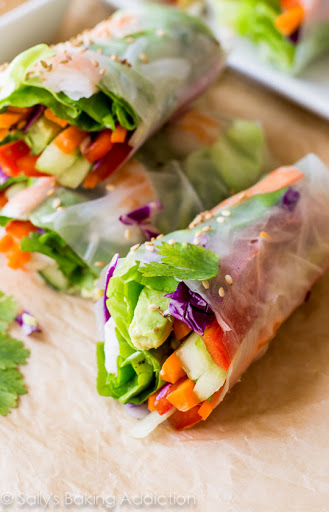 Homemade Fresh Summer Rolls with Easy Peanut Dipping Sauce