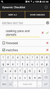 Dynamic Checklist - náhled