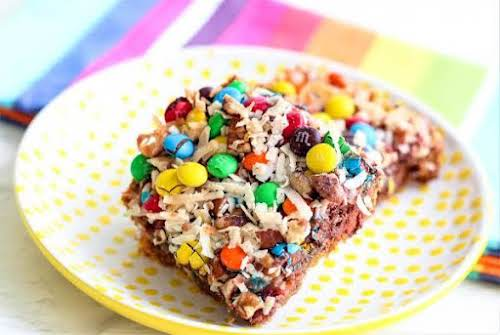 """Chocolate Rainbow Bars """"Kids big and small are going to love these..."""