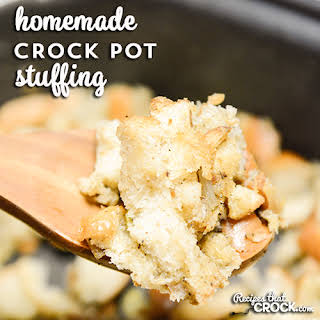 Homemade Crock Pot Stuffing.