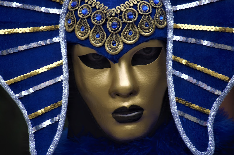 Maschera Blu e Oro di Curlyblus