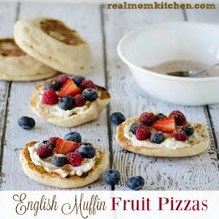 English Muffin Fruit Pizzas.